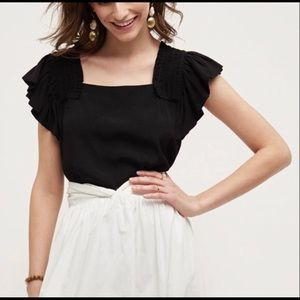Anthropologie Maeve Epaulet Blouse